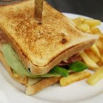 Grilled sandwich from chef